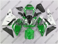 Yamaha YZF-R1 Green/White Fairings