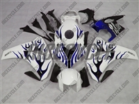 Honda CBR1000RR White/Blue Flame Fairings
