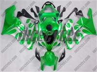 Honda CBR 1000RR Silver Tribal/Green Fairings