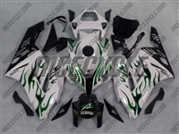 Green Fire/White Honda CBR 1000RR Motorcycle Fairings