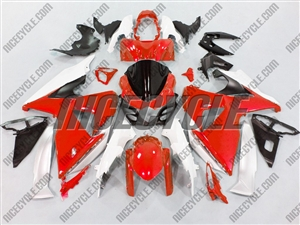 Red/White Suzuki GSX-R 1000 Fairings
