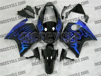 Honda CBR1100XX Blackbird Blue Flame Fairings