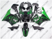 Honda CBR900RR Metallic Green Flame Fairings