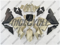 Kawasaki ZX10R Gold/Matte Black Fairings