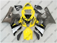 Yellow/Silver Suzuki GSX-R 600 750 Fairings