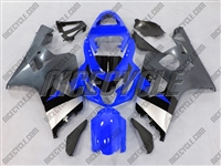 Blue/Silver Suzuki GSX-R 600 750 Fairings