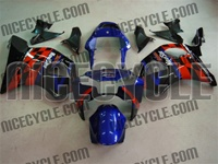Blue/Red Sponsor Honda CBR954RR Motorcycle Fairings