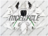 Kawasaki ZX10R White/Green Accents Fairings