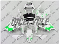 Kawasaki ZX9R Bright Green Tribal Fairings