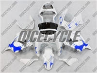 Kawasaki ZX9R Blue Tribal Fairings