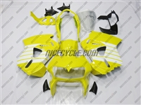 Yellow/White Honda VFR 800 Fairings