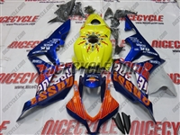 Blue Repsol Honda CBR600RR Motorcycle Fairings