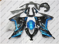 Kawasaki Ninja 300 Arctic Black/Blue Fairings