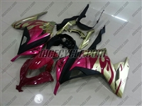 Kawasaki Ninja 300 Gold Metallic/Pink Fairings