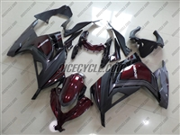 Kawasaki Ninja 300 Grey/Maroon Fairings