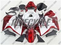 Suzuki GSX-R 1300 Hayabusa Red on White Fairings