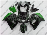 Suzuki SRAD GSX-R 600 750 Green Flame Fairings