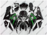 Suzuki GSX-R 1000 Black Fairings Green Accents