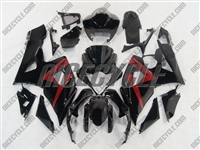 Suzuki GSX-R 1000 Black Fairings Red Accents