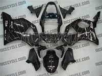 Striped Black Honda CBR954RR Motorcycle Fairings