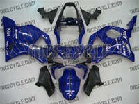 Honda CBR954RR Striped Blue Fairings