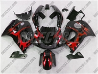 Red Tribal Suzuki SRAD GSX-R 600 750 Fairings