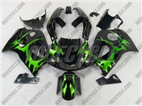 Suzuki Green Tribal SRAD GSX-R 600 750 Fairings