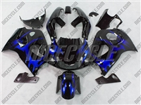 Suzuki Blue Tribal SRAD GSX-R 600 750 Fairings