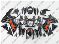 Suzuki GSX-R 600 750 Orange Tribal/Black Fairings