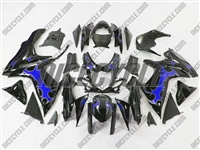 Suzuki GSX-R 600 750 Blue Tribal/Black Fairings
