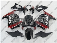 Tribal Graphic Red Ninja 250R Fairings