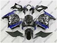 Ninja 250R Tribal Graphic Blue Fairings
