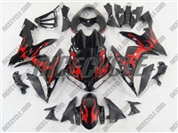 Red Tribal Yamaha YZF-R1 Fairings