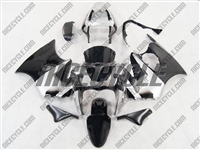 Black/Silver Kawasaki ZX6R Fairings