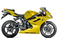Yellow Triumph Daytona 675 Fairings