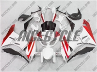 Kawasaki ZX6R White/Red Fairings