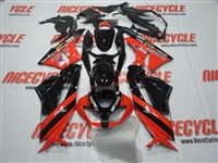 Red/Black Kawasaki ZX6R Fairings