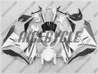 White/Silver Kawasaki ZX6R Fairings