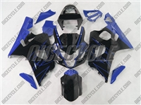 Black/Blue Accents Suzuki GSX-R 600 750 Fairings