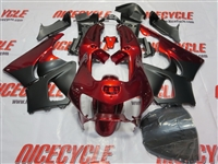 Matte Black/Red Honda CBR900RR Motorcycle Fairings