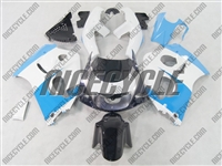 Sky Blue/White Suzuki SRAD GSX-R 600 750 Fairings