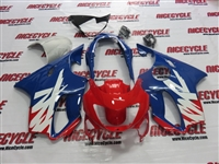 Red/Blue Honda CBR 600 F4 Fairings