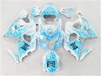 Custom Sky Blue Airbrushed Suzuki GSX-R 600 750 Fairings