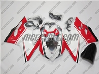 Ducati 1199/899 Panigale White/Red Fairings