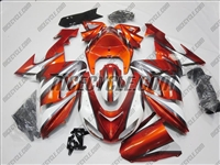 Kawasaki ZX10R Orange White Airbrush Fairings