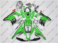 Kawasaki ZX10R White Green Fairings