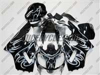 Kawasaki ZX12R Black Tribal Fairings