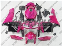 Honda CBR600RR Metallic Pink/Black Fairings