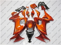 Kawasaki ZX10R Metallic Orange Fairings