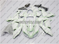 Kawasaki ZX10R Green Outlined Fairings